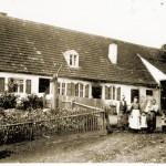 Altes Vetter Haus - die Schmide ist leicht an der Schwärzung des hausputzes erkennbar