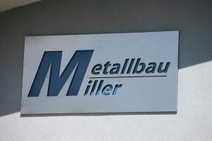Schriftzug des Firmenlogos von Metallbau Miller
